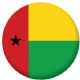 Guinea-Bissau Country Flag 58mm Mirror Keyring